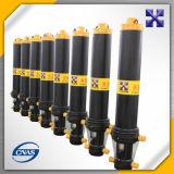 Cilindro hidráulico telescópico/descarga de caminhão