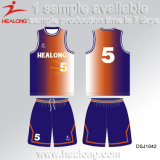 A manufatura de Healong China ostenta a camisola do basquetebol do Sublimation do menino da engrenagem
