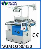 Máquina que corta con tintas de la escritura de la etiqueta