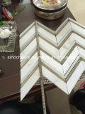 Venta caliente de calidad superior Calacatta Oro de Gaza Brickjoint mosaico de mármol
