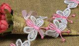 高品質の蝶刺繍のレースの水溶性のトリム