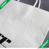 Embossed Logo White Paper Print Packing Bag pour chemise