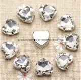 Hart 12mm naait op Kristal met het Plaatsen van de Klauw Parels voor de Schoenen van de Kleding van het Huwelijk (sW-Hart 12mm)