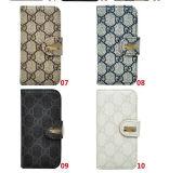 Estojo carteira de venda quente para iPhone 5s 4s/ Samsung S4 S5 Nota 2 3 com o logotipo da marca de luxo