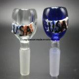 14mm /18mm el tazón de vidrio de vidrio para tuberías de agua