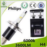 최신 판매! ! ! H4 H/L Philips LED 차 헤드라이트 6000K 30W