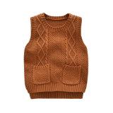 Nouveau style de chandail de laine Pull Pull Vest Designs pour bébé, pull-over pullover en tricot Enfants Vêtements