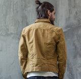 Rivestimento dei jeans degli uomini cachi dell'America di stile di modo del cotone di Short di svago lungo classico su ordinazione dei manicotti