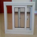 Окно алюминия белой рамки одиночное застекляя сползая
