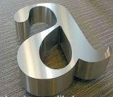 広告文字の印のためのブラシをかけられ、磨かれた非照らされる金属のステンレス鋼の文字