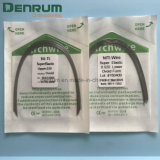 Archwire rettangolare/rotondo Niti del collegare dentale elastico eccellente ortodontico dell'arco di Denrum