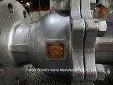 нержавеющая сталь 2PC служила фланцем плавая тип шариковый клапан