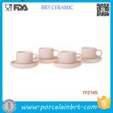 Insieme di ceramica della tazza di caffè del tè di allineamento facile attraente