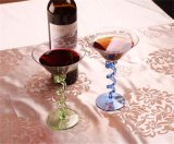 Champagne를 위한 유리제 받침 달린 컵, 유리제 컵, 위스키, 칵테일 및 Martini