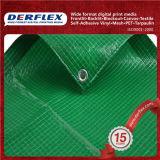 PVCビニールの物質的な防水シートの製造者PVCによって薄板にされるファブリック
