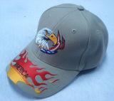 Gorra de béisbol gris con la insignia grande Bb1026