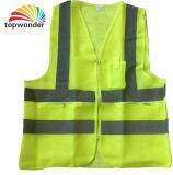 Colete reflector de malha de alta visibilidade, colete de segurança, de vestuário de segurança e reflectores colete de segurança