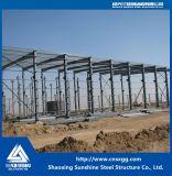 Estructura de acero prefabricada del edificio de marco de acero de la sección ligera para el taller