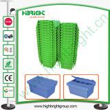 Caixa de porta-contentores móveis Logística de plástico com tampas