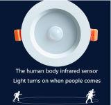 Le détecteur infrarouge DEL intelligente Downlight de corps humains