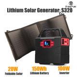 el panel solar 20W del kit de energía solar portable del generador de la Sistema Solar de la apagado-Red 100W