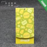 Venda por atacado de papel personalizada fábrica do Tag do cair de China para a roupa