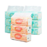 Machine à emballer de tissus faciaux pour douzaine presses bourrées de serviette de papier