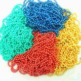 La cadena de bolas de colores, collar, el color de la cadena de cordón de metal (KY)