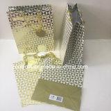 Sacos baratos do presente do papel do projeto do ouro das vendas por atacado