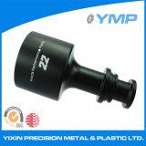 Negro de aluminio de alta precisión Anodize CNC girando piezas forman en el mercado de China
