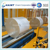 Máquina de envoltura en la fábrica de papel