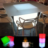 Mesa de Cubo Grande Mesa de Cubo de Vidro LED Decoração de LED Light Up Cube Table