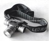 5W 3-wijze Aluminum LED Healamp met Helmet Clips
