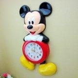 Reloj de pared del silencio del estilo de Mickey, reloj de los niños