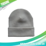 El color sólido modificó el sombrero para requisitos particulares hecho punto gorrita tejida reversible unisex (038)