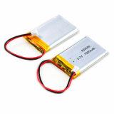 Bateria de polímero de lítio ionizado de 3,7 com 1050mAh 1000mAh
