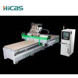 La carpintería Multiusos 4 husillos Atc Router CNC con eje rotativo