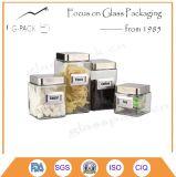 Jarra hermética de vidro para fins de armazenamento de alimentos