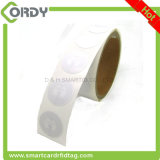 etiqueta redonda de la etiqueta engomada de 13.56MHz FM11RF08 pequeña RFID