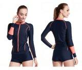 2016 Quick Dry Lycra Sportwear da menina de Manga Longa&Wetwear (CL-746)