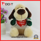 Adorável cão de brinquedo recheado cão de pelúcia cão de pelúcia cão