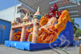 2015 New Design Devil Dragon inflável Slide Chsl476