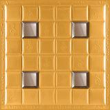 3D de cuero de PU el panel de pared 1008-19 para la decoración del hogar