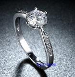 Кольца горячего Zirconia Jewelry- надувательства кубического латунные (R0827)