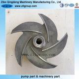 ステンレス鋼または炭素鋼の/Castの鉄の水ポンプの開いたインペラー