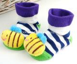 2017 calzini operati antiscorrimento caldi del bambino del cotone di vendita 3D