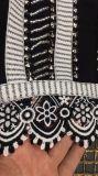 ジッパーの鍵穴の長い袖の刺繍および名声の服に玉を付けること