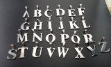 De manier die het MaatRoestvrij staal van de Halsband van de Brief van letters voorzien etiketteert Juwelen