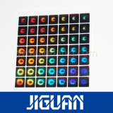 El holograma transparente adhesivo de Siver cubrió para la tarjeta del PVC