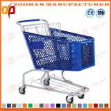 Chariot en plastique à achats de caddie de supermarché de qualité (Zht89)